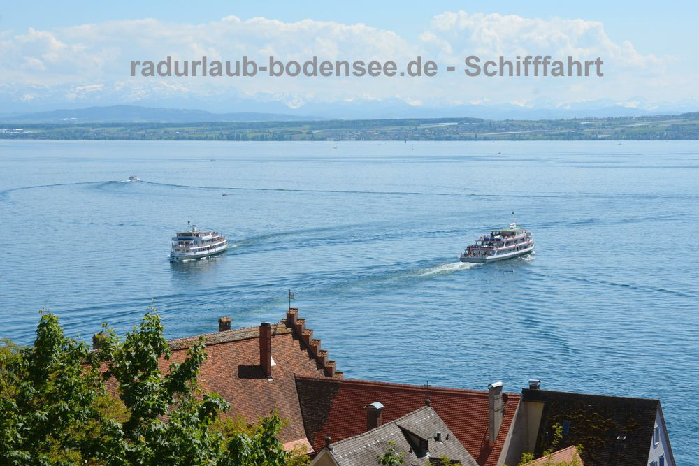 Schifffahrt am Bodensee - Blick von der Meersburger Burg
