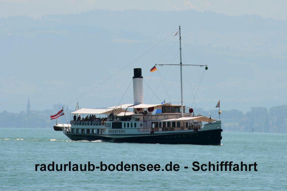 Schifffahrt am Bodensee - Dampfschiff Hohentwiel