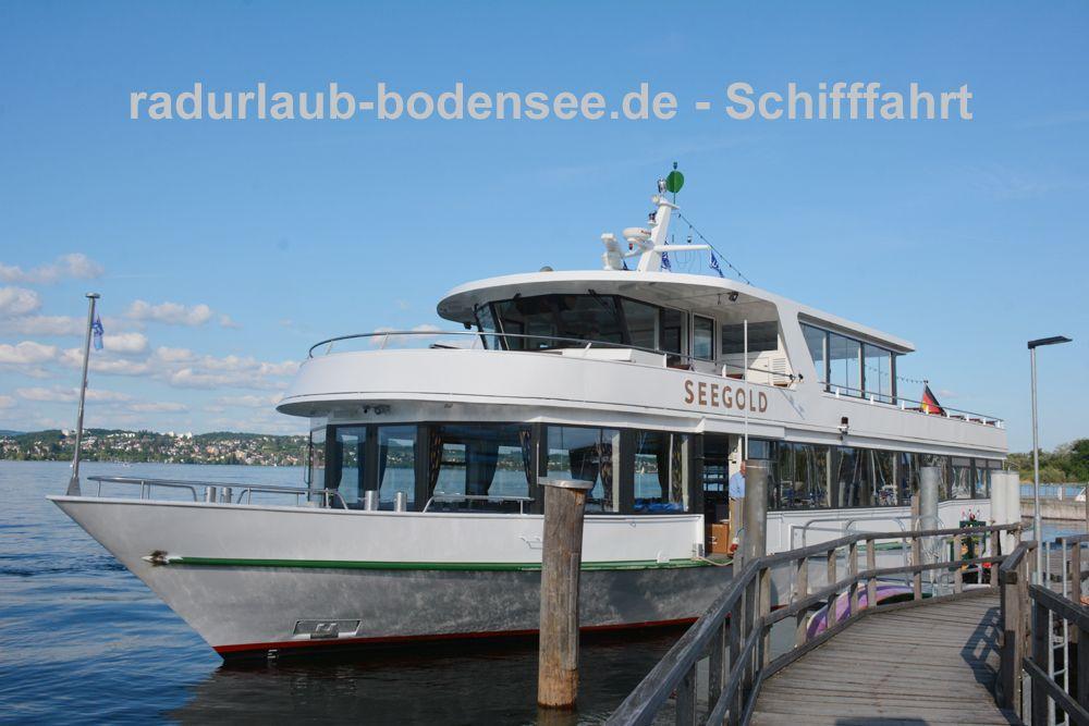 Schifffahrt am Bodensee - MS Seegold